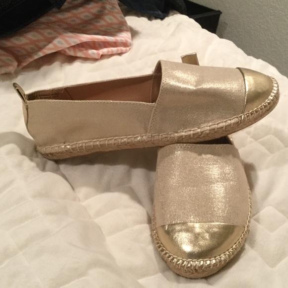 8030e83a8 LOFT Shoes | Gold Espadrilles Size 9 Brand New Never Worn | Poshmark
